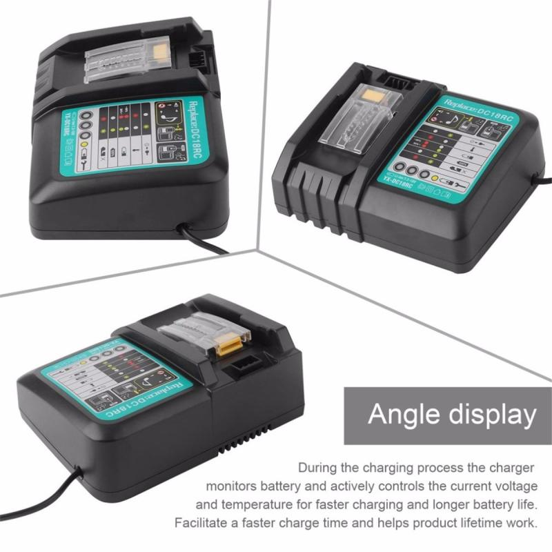 US/AU 3A/6A Lithium-ion Battery Charger 7.2-18V Rapid Power for Makita DC18RC DC18RA BL1830 Circuit Overheating Short Protection
