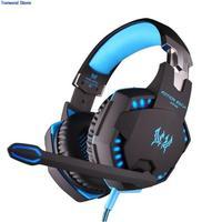 KOTION EACH G2100 3 5mm LED Light PC Gaming Bass Stereo Vibration Vibrate Headset Headphone Earphones