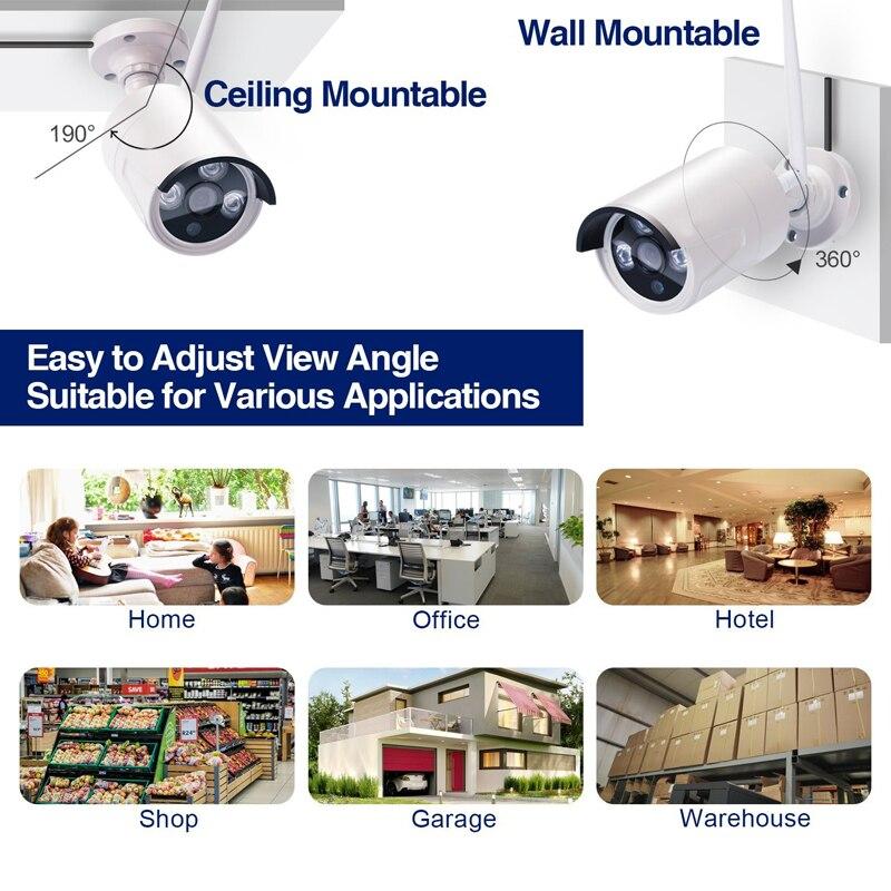 Wetterfeste Stecker und Spielen P2P Cloud Basierend 4CH 1.3MP 960 p HD Drahtlose WiFi Kamera NVR Kit Für Indoor Outdoor home Shop Sicherheit - 5