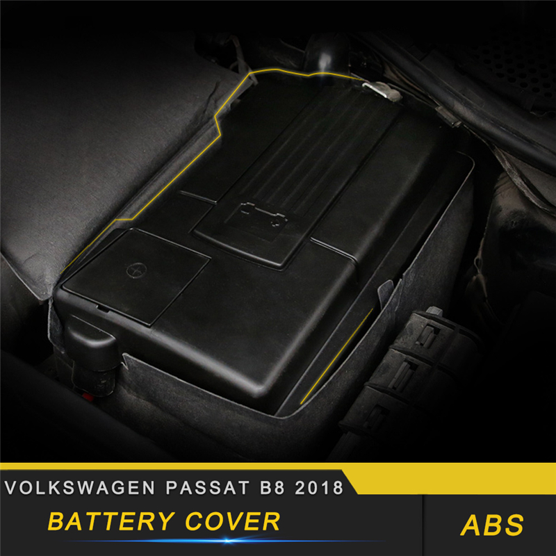 For Volkswagen Passat B8 2018 Car Battery Power Electrode Protector Negative Clamp Terminal Cover Shell|Automotive Interior Stickers| |  - title=