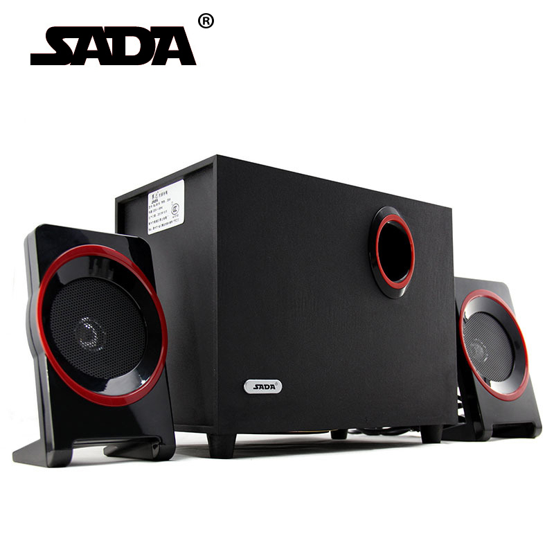SADA High Quality Wood USB Speaker 2.1 For Computer Smartphone ,3.5 mm Stereo Bass Speakers Hi Fi Boxes For Laptop Desktop PC pci 1610 rev a1 data acquisition card 4 port rs 232