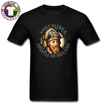 Saint Patrick Apostle of Ireland Graphic T Shirts Catholicism Buddhism Cotton Tee Shirt Funny Fathers Day Top Quality Clothes
