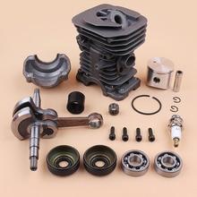 цена 40mm Piston Cylinder Crankshaft Crank Bearing Oil Seal Engine Kit for HUSQVARNA 136 137 141 142 Gas Chainsaw Spares 530069941