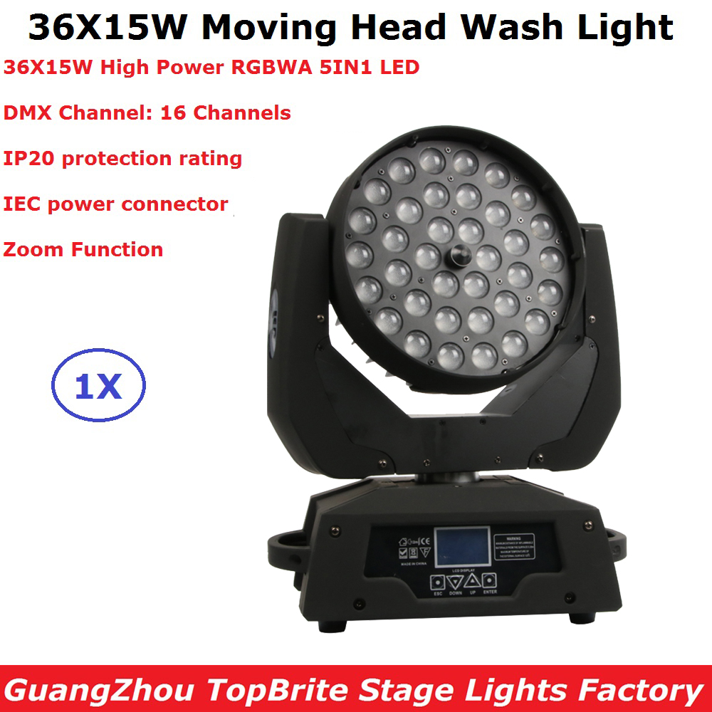 2019 Free Shipping LED 36X15W RGBWA 5IN1 Wash/Zoom Lights DMX512 Moving Head Lights Professional Dj Bar Party Show Stage Lights 2019 Free Shipping LED 36X15W RGBWA 5IN1 Wash/Zoom Lights DMX512 Moving Head Lights Professional Dj Bar Party Show Stage Lights
