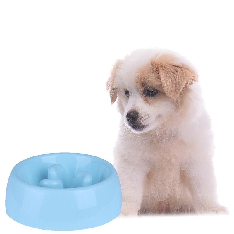 Non Slip Slow Feeder Pet Bowl Anti Choke Pets Dog Cat Puppy Kitten Feeding Food Bowl Prevent Gluttony Obesity Dog Bowls 1Pcs