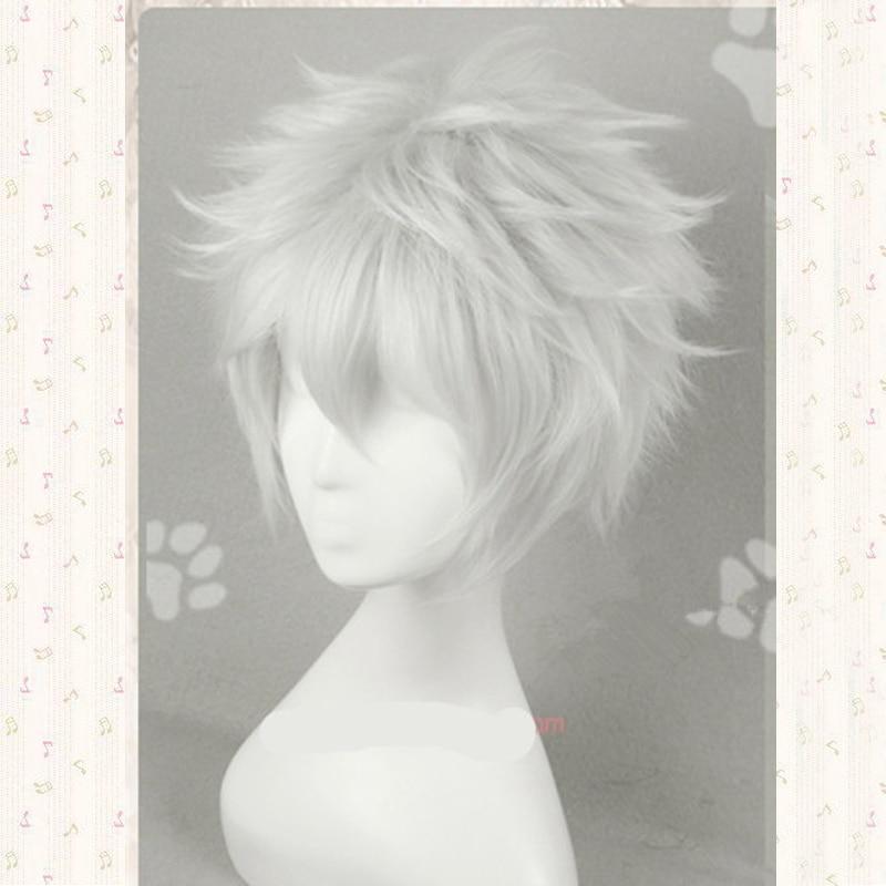 Anime Gintama /Silver Soul sakata gintoki Cosplay wig Gintoki Silver White cosplay wig + wig cap free