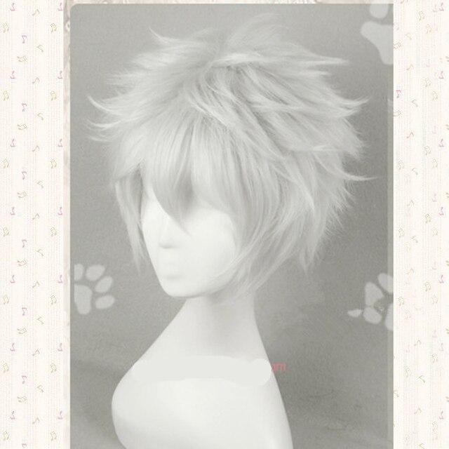 Anime Gintama/argent âme sakata gintoki Cosplay perruque Gintoki argent blanc cosplay perruque + perruque casquette gratuite