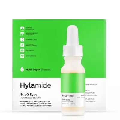 Hylamide SubQ Eyes Advanced Serum 0.5 ounce oz/15 ml Under Eye Aging skin correcting serum 1 19 fl oz from rivage