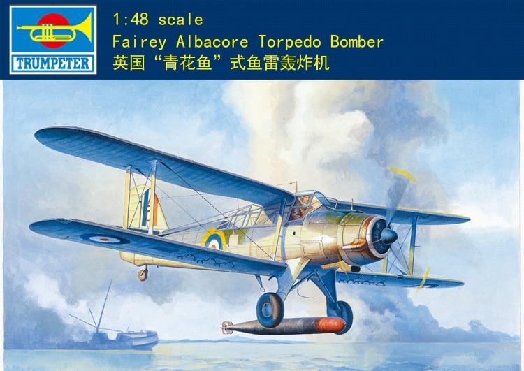 Trumpeter 1/48 02880 Fairey Albacore Torpe Do Bomber