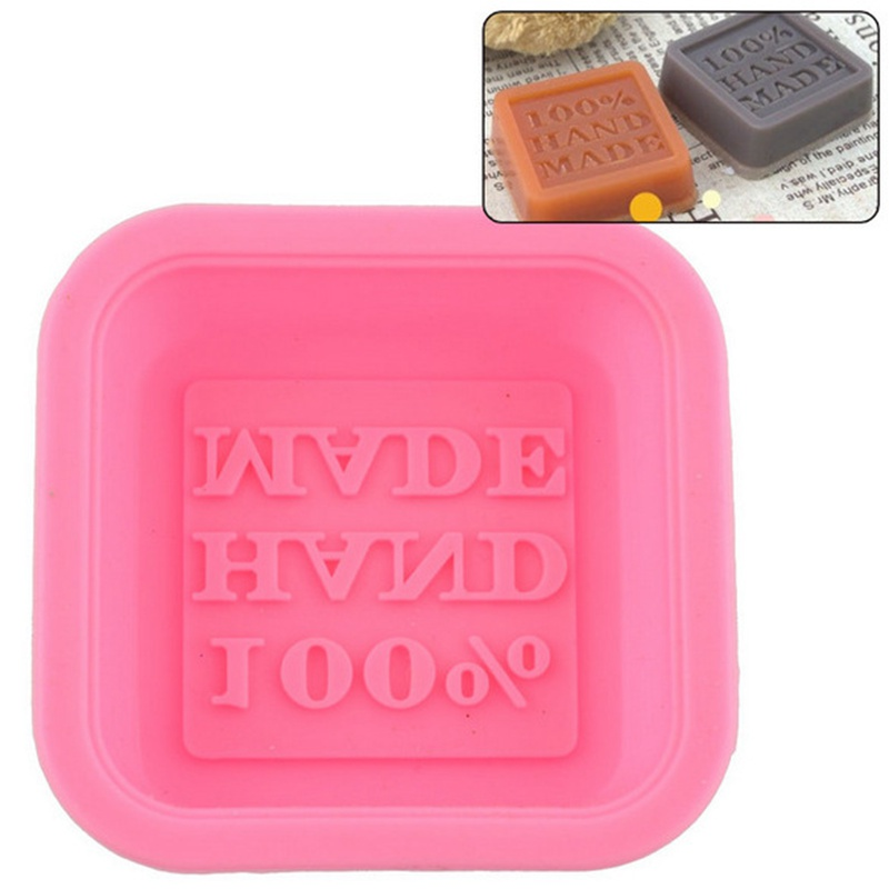 50ML 100% 3D Square Shape Hand Made Food Grade Silicone Soap Mold Diy For Soap Making Fondant Cake Decorating Tools Soap Make