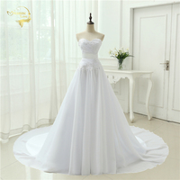 Cheap Price Free Shipping 2015 New Arrival A Line Sweetheart Applique Vestidos De Noiva White Ivory