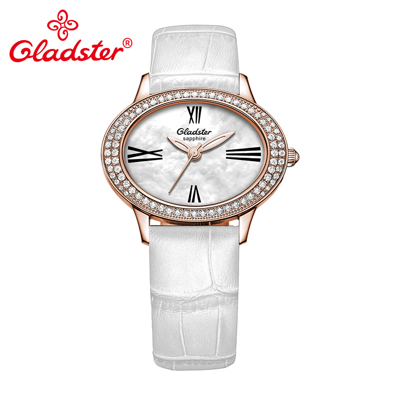 Gladster Crystal Bezel Sapphire Crystal Shell Dial Unique Women Quartz Watch Japanese MIYOTA GL30 Female ClocksGladster Crystal Bezel Sapphire Crystal Shell Dial Unique Women Quartz Watch Japanese MIYOTA GL30 Female Clocks