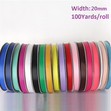 20MM width, Grosgrain Ribbon for gift packing Craft Sewing Party Wedding Decos, 100yards/roll