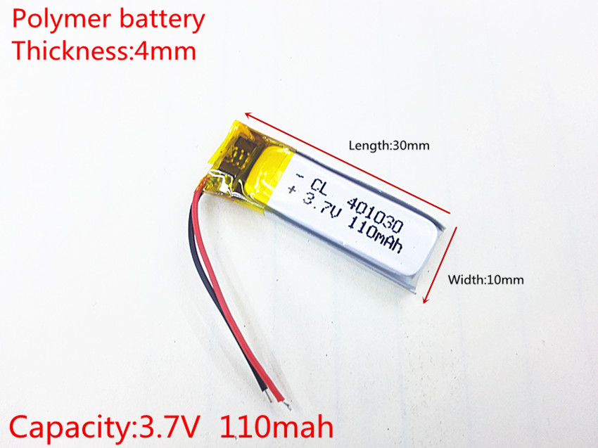 Free shipping Bluetooth headset Bluetooth cell battery 401030 041030 3.7V lithium polymer battery Battery MP3 Wholesale best battery brand free shipping 401 030 421 030 bluetooth headset bt2020 bt500v 3 7v battery 100mah