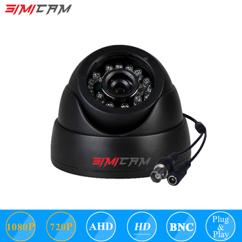 AHD Camera SIMICAM CCTV Cam 720P 1080P Video camera for DVR Mini Dome Camera AHD indoor IR CUT night vision surveillance Camera free shipping evtevision 720p 2 8 12mm vari focal lens ahd camera indoor plastic dome 15m night vision cctv security camera