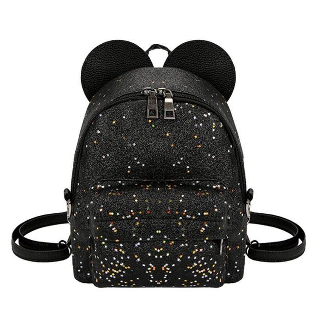 6ae33823809c Блестящие блёстки для женщин милые маленькие рюкзаки из искусственной кожи  школьные ранцы обувь для девочек принцесса