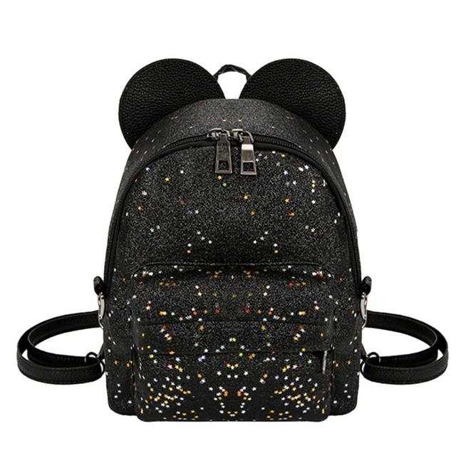 193f43f703bf Shining Sequins Women Cute Small Backpacks PU Leather School Bags Girls  Princess Shoulder Bag 2018 New