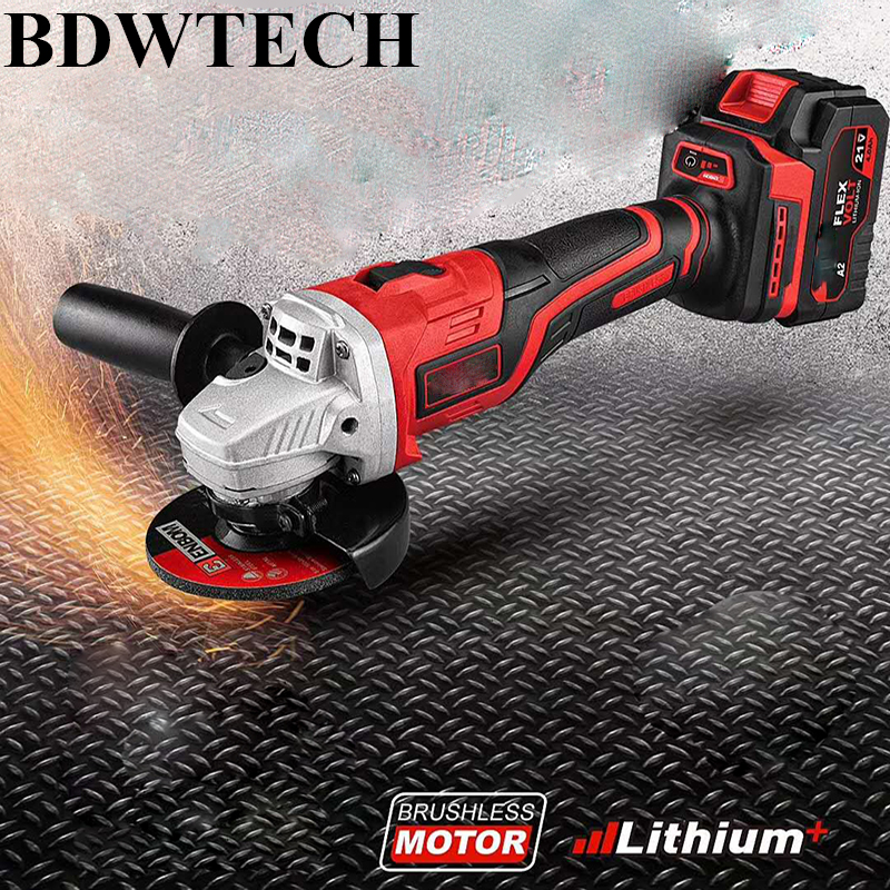 BDWTECH Angle Grinder 21V Cordless Lithium-Ion 4000mAh Power Tools
