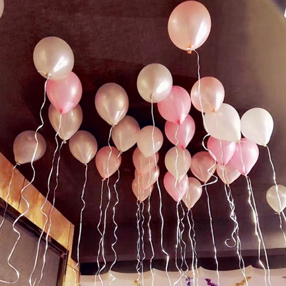 100Pc 12in Gold Black Birthday Wedding Party Latex Balloons Festival Celebration