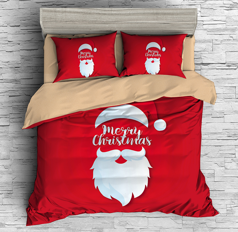 Christmas Room Decor 3d Bedding Set Duvet Covers Pillowcases Santa Claus Kids Comforter Bedding Sets Bed Cover Set Bed Linen