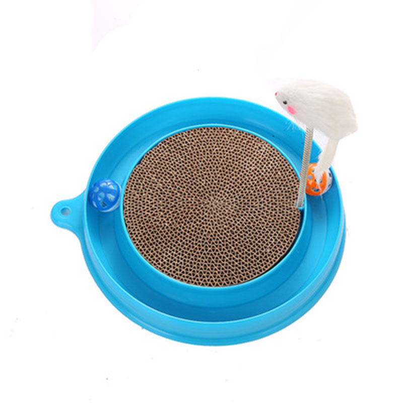 Cat Kitten Toy Corrugated Paper Cat Scratch Board Built In Catnip Bells Cats Love Toys Cat Interactive Toys Cats Pet Supplies in Cat Toys from Home Garden