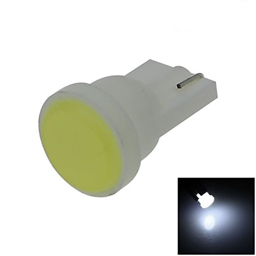 10pc Car led Ceramic Interior LED T10 COB W5W 194 168 Wedge Door Instrument Side Bulb Lamp Car White Source 12V Car styling 10pcs car style interior led t10 cob w5w 168 wedge door instrument side bulb lamp car light white blue green red yellow source