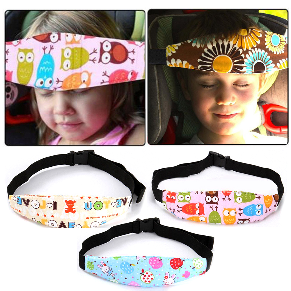 Baby Kid Head Support Holder Sleeping Belt Safety Car Seat Sleep Head Band Support Holder Belt Adjustable Car Accessories