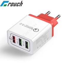 USB Wall Charger Quick Charge 3.0 Fast Charger Fit QC2.0 USB Adapter 18W Portable travel Charger for Mobile Phone Chargers(China)