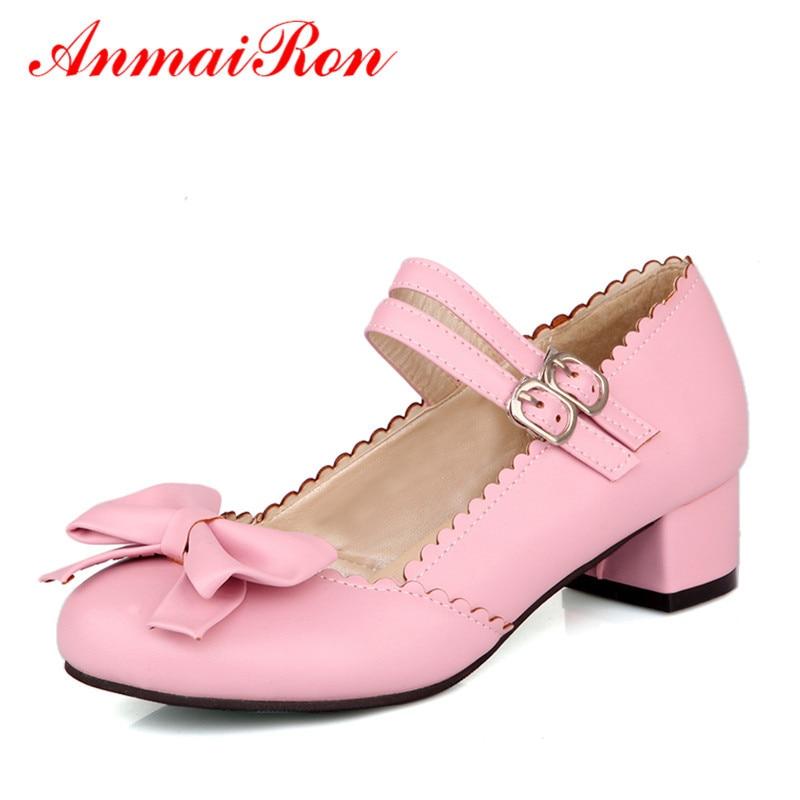 760ac054c ANMAIRON الصيف لطيف بووتي عالية الكعب السيدات أحذية امرأة أنيقة الرقص حذاء  راقصة البالية المرأة لوليتا أحذية الزفاف مضخات حجم 43