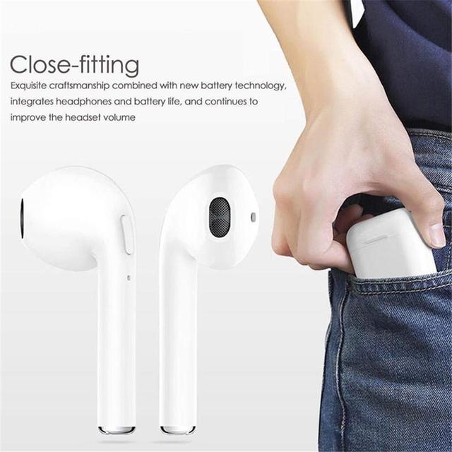 Cewaal i7s TWS Bluetooth Earphone Stereo Earbud Wireless Headphones With Charging Box Mic PK i9s i10 i11 i12 Drop shipping