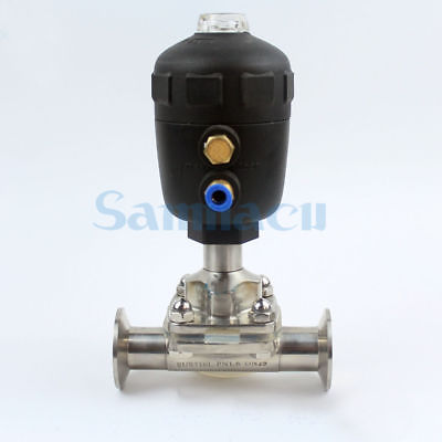 3/4-2 SUS316 Stainless Steel Sanitary Pneumatic Tri Clamp Diaphragm Valve For Homebrew 3 4 2 sus304 stainless steel sanitary tri clamp electric butterfly valve for homebrew