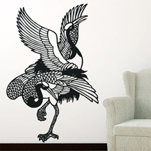 Free Shipping Wall stickers Home decor SIze:560MM*845mm PVC Vinyl paster Removable Art Mural Crane Brids X-131