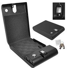 Free Shipping Portable Security Box Executive Biometric Fingerprint Safe Gun Pistol Car Biobox