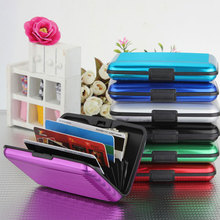 Aluminium Alloy Wallet Credit Card Holder RFID Blocking Waterproof Purse Best Sale-WT(China)