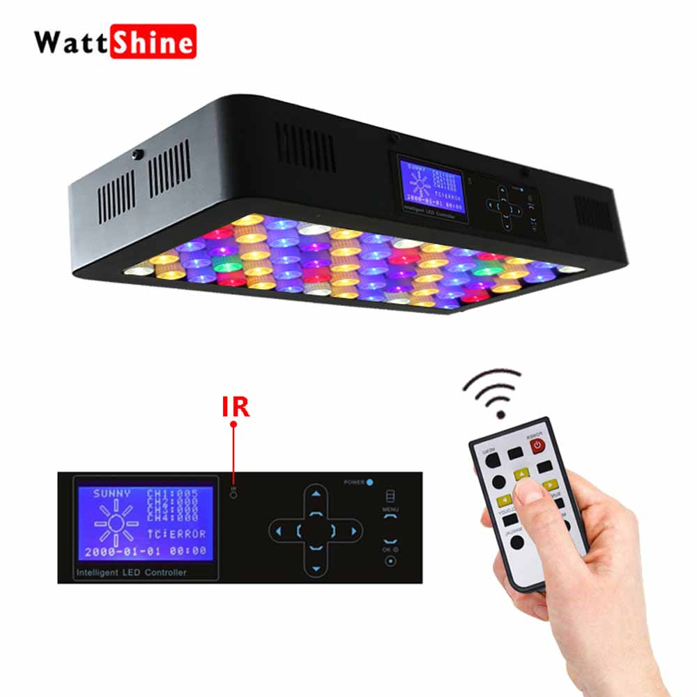 Remote or Touch control 180W LED Aquarium Light Timer Control Dimmable lamp Freshwater and Saltwater Coral Reef Grow Fish Tank 100w lumia 5 1 diy aquarium led light sunrise sunset dimmable led aquarium light 100w remote auto dim coral reef led lighting