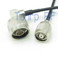 50 cm 피그 테일 동축 점퍼 케이블 rg174 연장 코드 20in RP-TNC 수 (암 핀)-n 수 직각 rf 커넥터 어댑터