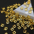 4mm 6mm 8mm 10mm 12mm Round Metal Claw Setting Gold Color For Sewing On Round / Rivoli Stone