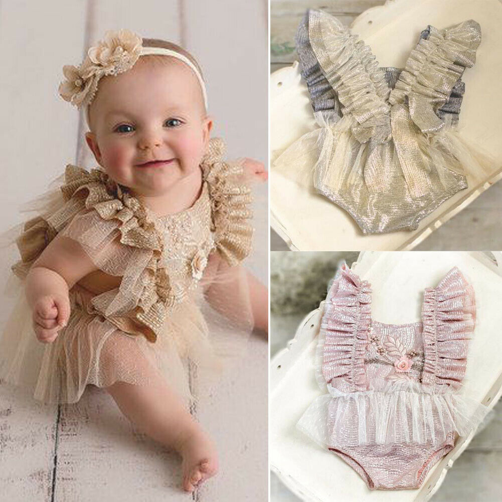 Tremendous Newborn Kid Baby Girl 1St Birthday Cake Smash Outfits Princess Funny Birthday Cards Online Elaedamsfinfo