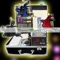 Eua despacho completo iniciado Tattoo Kit 3 metralhadoras conjunto de equipamentos agulhas Grips dicas de alimentação LCD