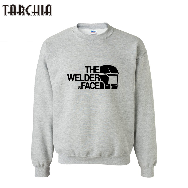 TARCHIA Men Streetswear Hip Hop Skateboard Hoodies Sweatshirt THE WELDER FACE Letter Printed Hoodies Sweatershirt Top XXL