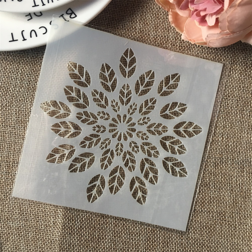 Hot 13cm Leaves DIY Craft Layering Stencils Wall Painting Scrapbooking Stamping Embossing Album Card Template