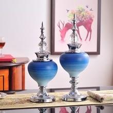 European Creative ceramic crafts creative Vase  Modern Figurines Vases Wedding Gifts Furnishing Art Home decoration