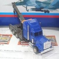 Car model 1:43 Kenworth Trailer crane truck engineering car alloy simulation car model toy W85