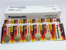 100PCS/LOT New Original Panasonic CR2032 2032 3V Button Cell Battery Coin Batteries For Watch Computer Free Shipping free shipping 2pcs lot fan7311 computer chip new original