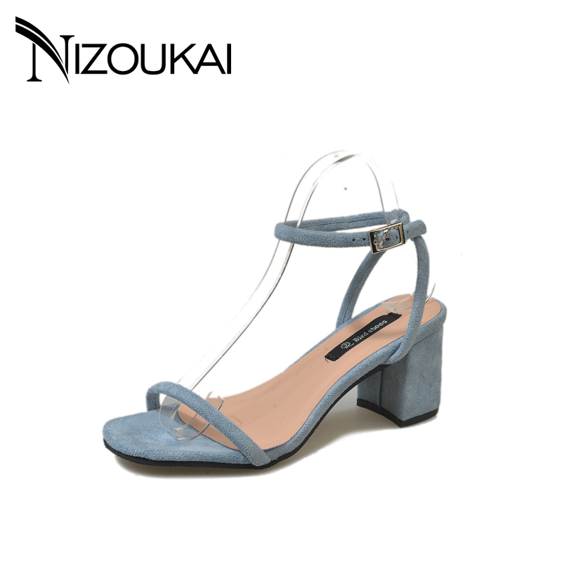 2018 new Summer Women Sandals Open Toe Flip Flops Womens Sandles Thick Heel Women Shoes Korean Style Gladiator Shoes