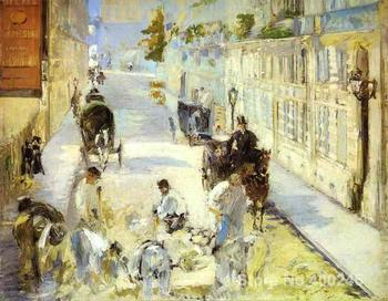 The road menders Rue de Berne Paintings by Edouard Manet Portrait art High quality Hand painted