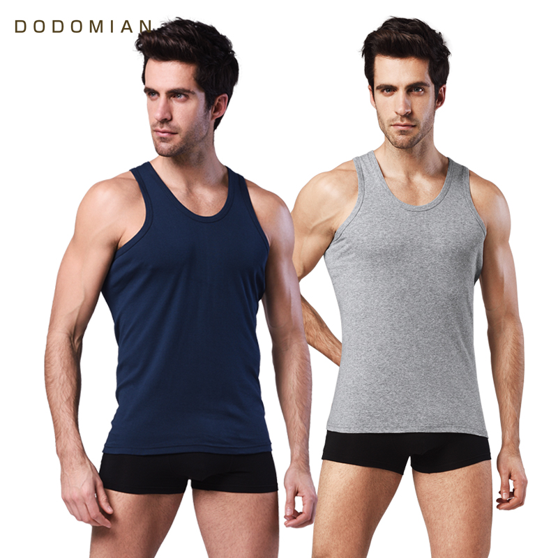 2 pieces Mens CottonTank   Top   Slim Clothing Mens Sleeveless O-neck Shirt Casual Vests Singlets Muscle   Tops   Undershirt