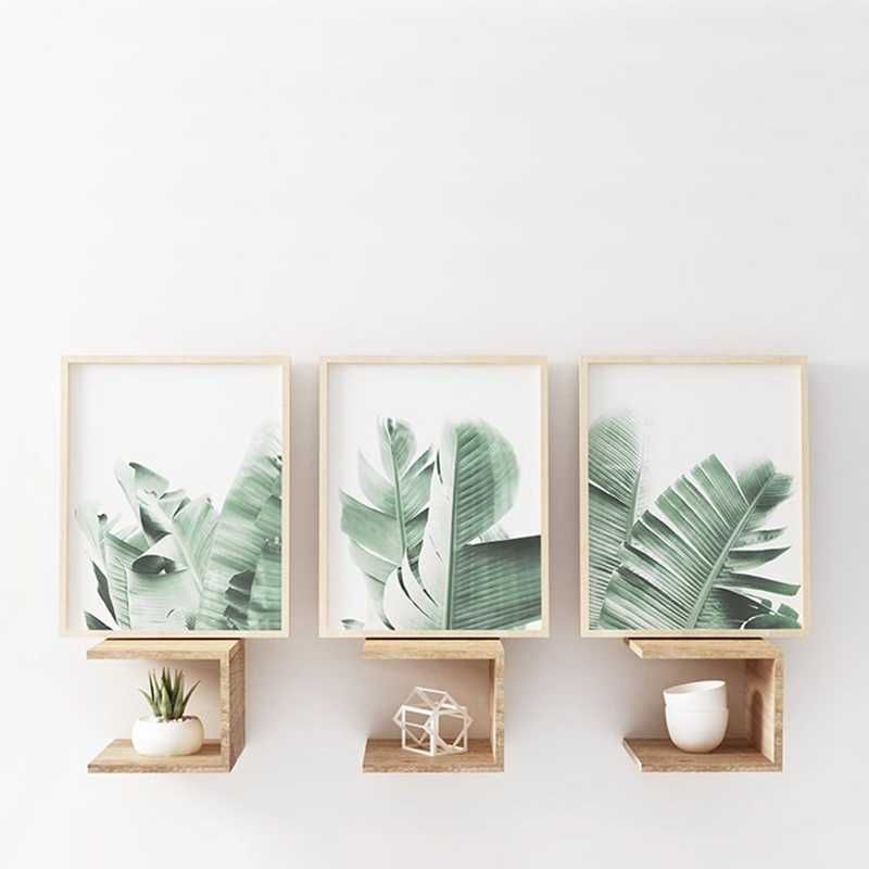 Banana Leaves Canvas Posters And Prints Tropical Minimalist Painting Wall Art Decorative Pictures Nordic Style Home Decoration