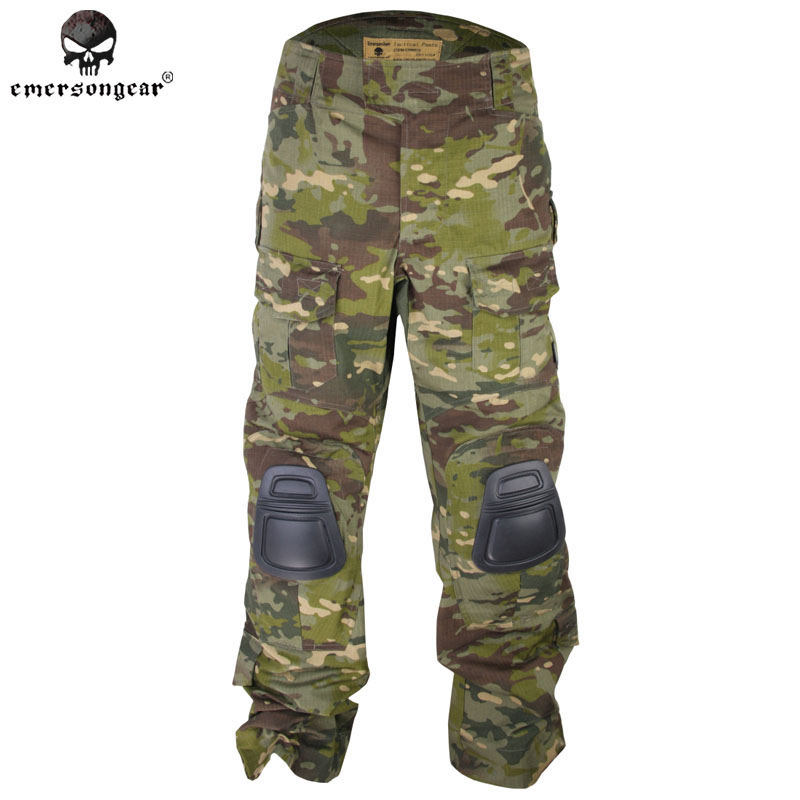 c89ede200e Emersongear G3 Combat Pants With Knee Pads BDU Army Airsoft Emerson Gear  Paintball Hunting Trousers Multicam Tropic EM9281