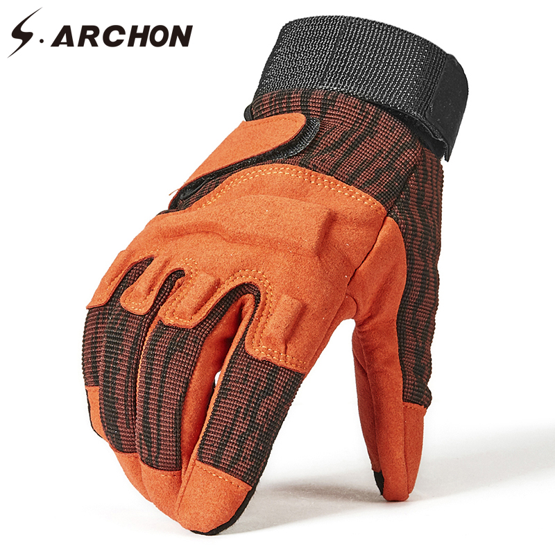 S.ARCHON New Military Fight Full Finger Gloves Men Special Forces SWAT Tactical Gloves Male Paintball Airsoft Combat Army Mitten
